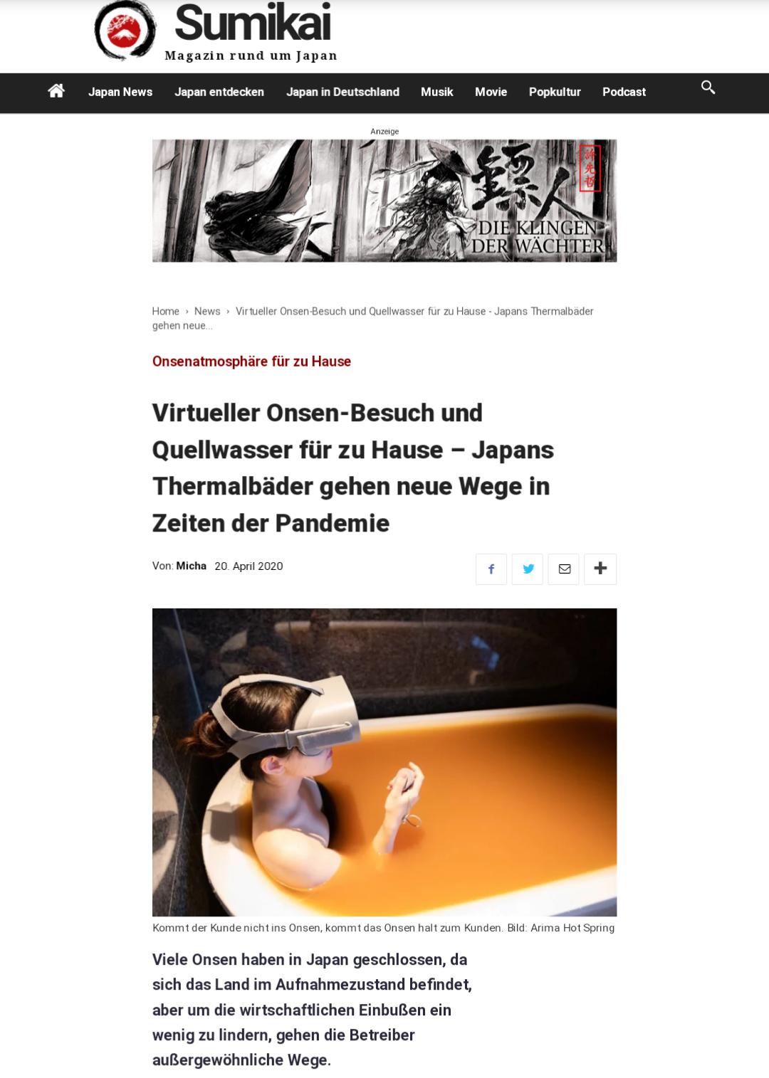 Sumikai Magazin rund um Japan(20. April)